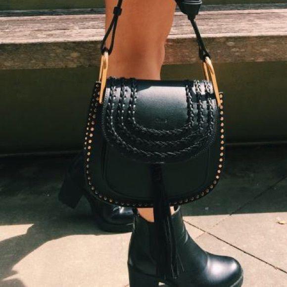 c62940a5e62 Chloe Hudson Leather Bag - Black Small The IT BAG of the season! Brand new