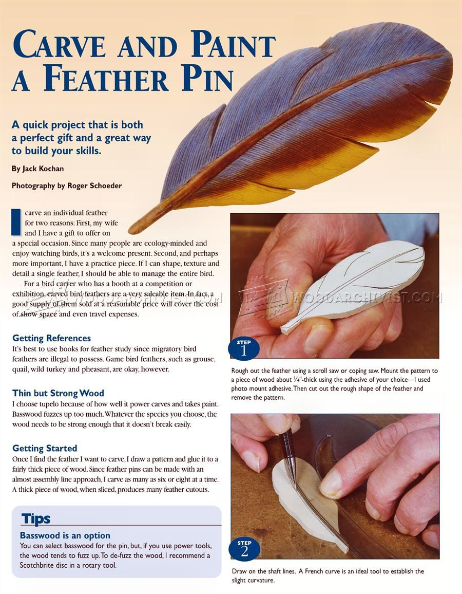 1582 Carving Bird Feathers In Wood Wood Carving Patterns And