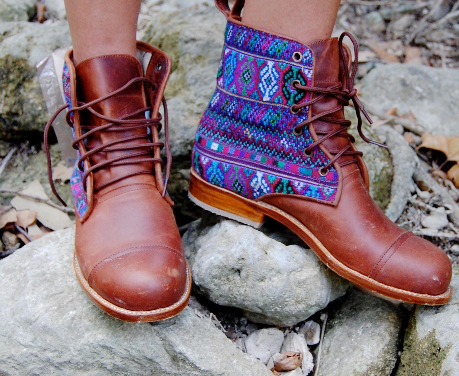 Exploring in my handmade CUSTOM boots! #teysha #guateboots
