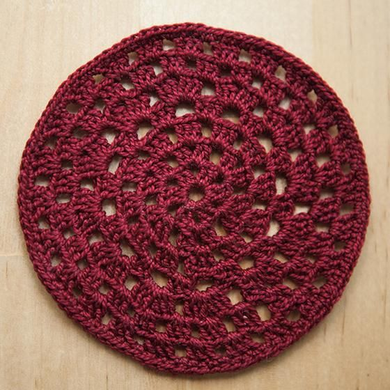 Granny Circle Crochet Coasters Fiber Arts Knitting Patterns