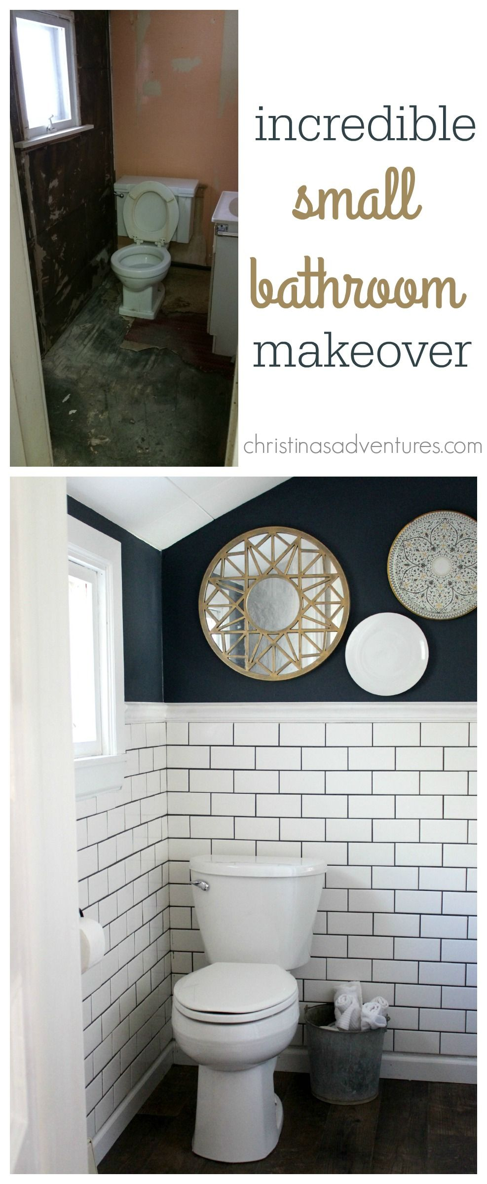 Small Bathroom Makeover Christinas Adventures