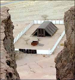 Tabernacle model at Timna Park, Israel. Photo: Todd Bolen ...