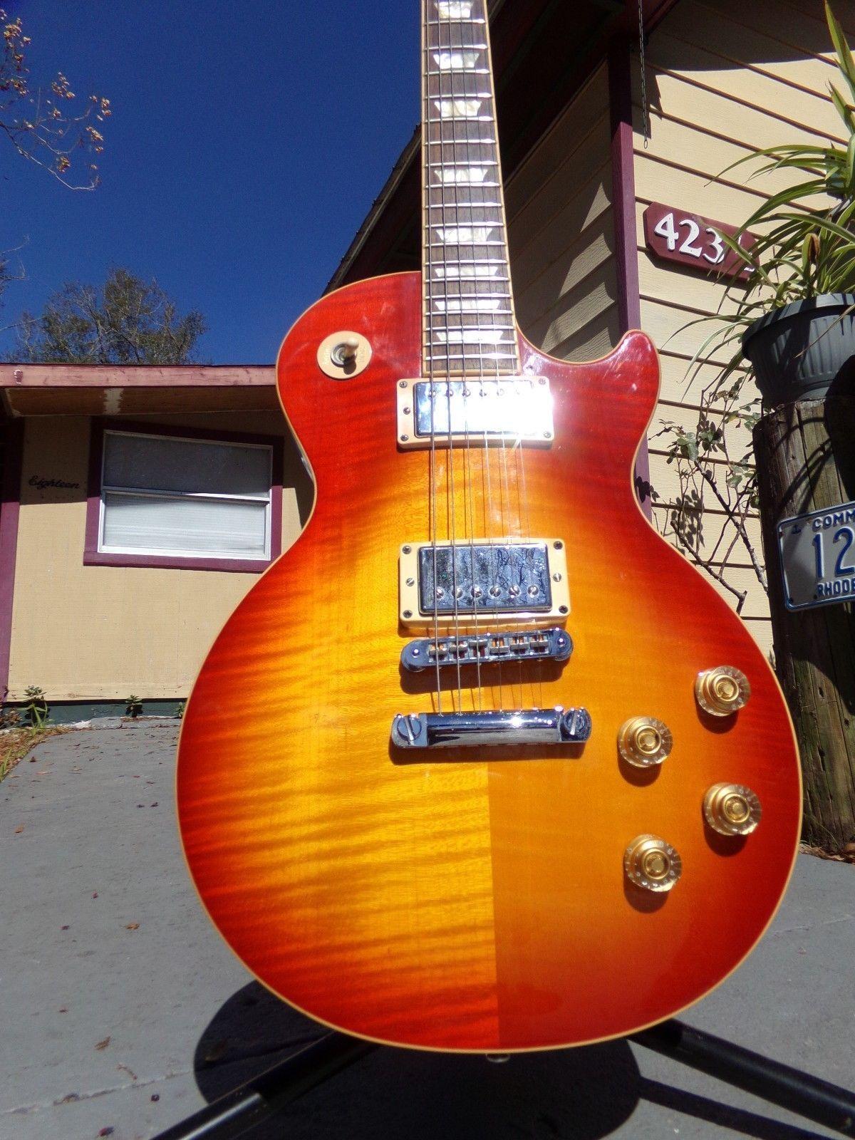 Gibson Les Paul Classic Players 57 Humbuckers Plus Electric Guitar Trans Ebony The Music