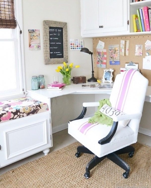 Painted Leather Office Chair {Radiant Orchid}   Beneath My Heart
