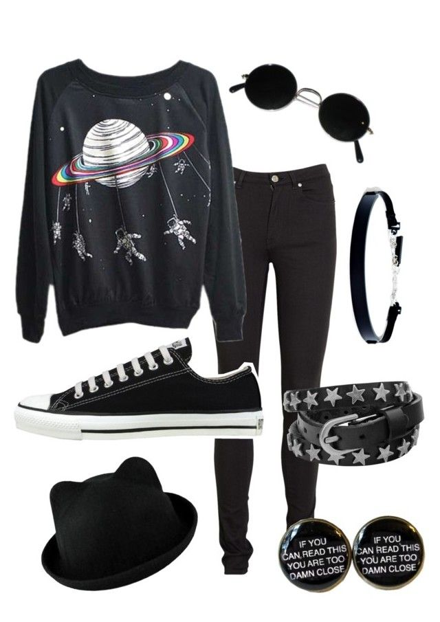 """""""Untitled #187"""" by ticci-toby ❤ liked on Polyvore featuring Acne Studios, Converse and DKNY"""