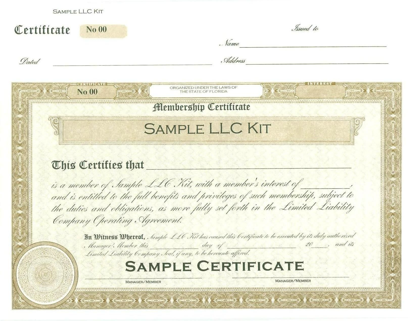 The Remarkable Articles Of Organization For Llc Or Pllc Florida Your For Llc Certificate Templates Awards Certificates Template Family Tree Template Excel Llc articles of organization template