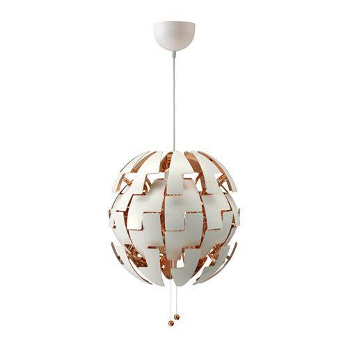 Lámpara de techo IKEA PS 2014 blanco, rojo cobre | Ikea ps