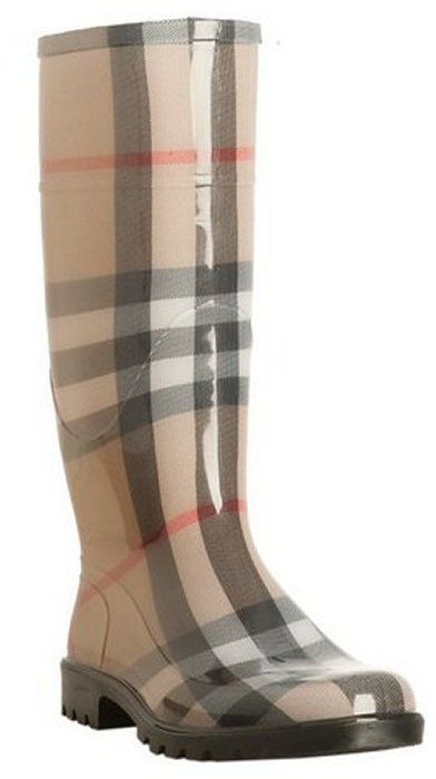 7e85aa4293b Burberry beige nova check  House Check  rain boots