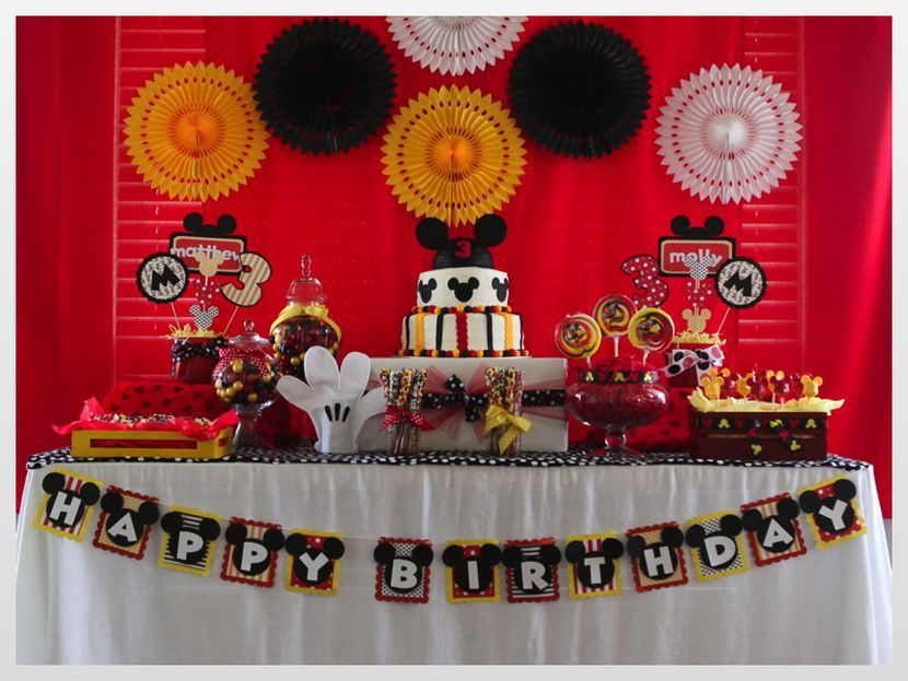 Mickey Mouse Birthday Party Ideas Cute Mickey Mouse table