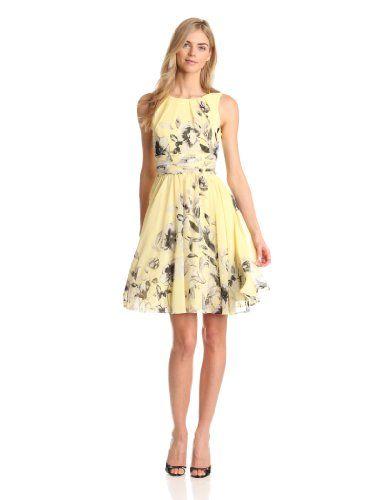 96f09a075dfe6 Amazon.com: Eliza J Women's Sleeveless Fit and Flare Printed Dress ...
