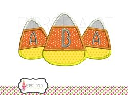 Candy Corn Trio Applique - 2 Sizes! | What's New | Machine Embroidery Designs | SWAKembroidery.com Embroidalot
