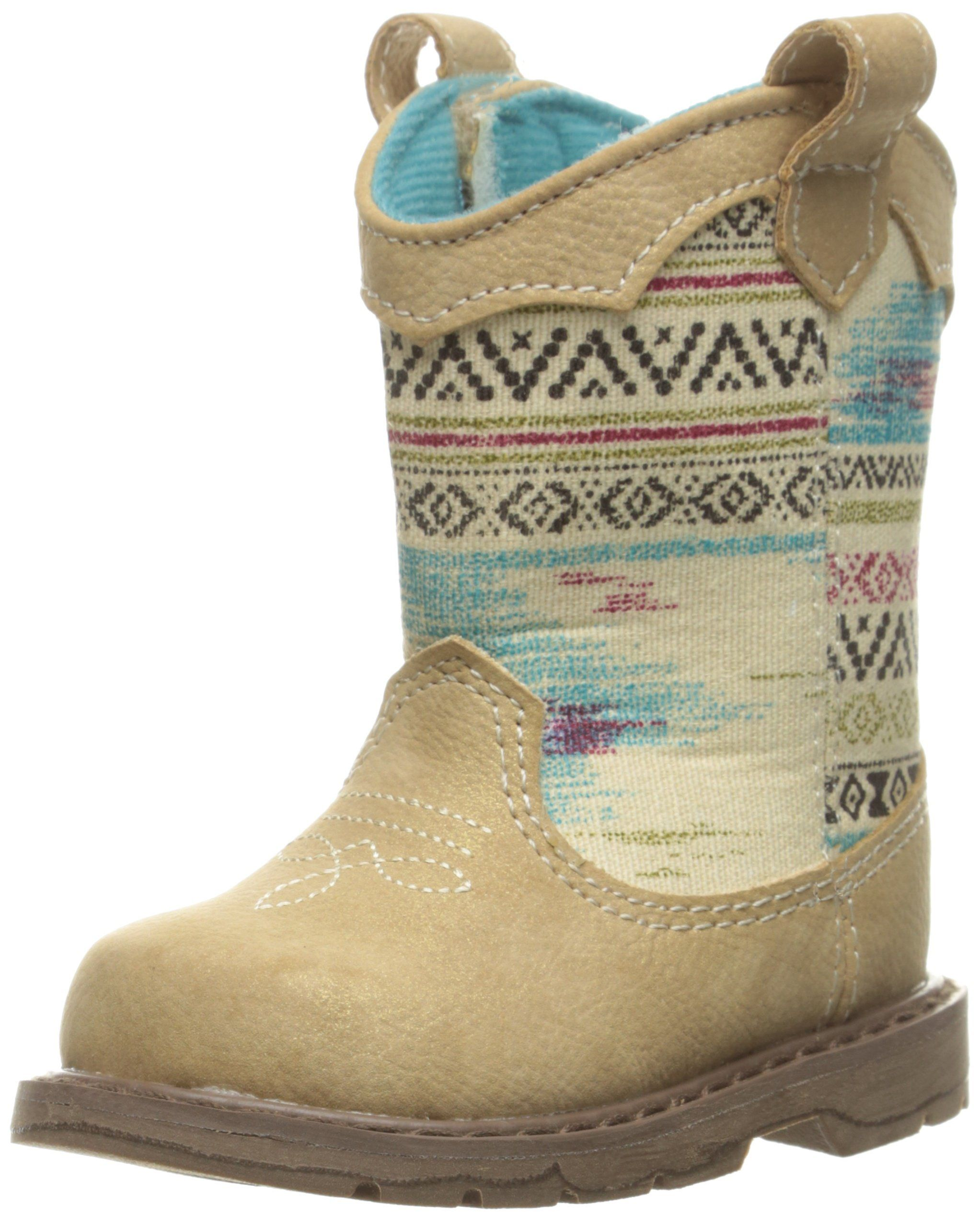 Baby Deer Baby Western Aztex Shaft T Boot Tan 2 M US Infant Pull
