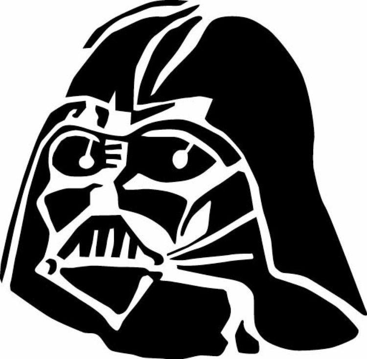 Darth Vader Maske als Wandschablone zum Ausdrucken   Star ...