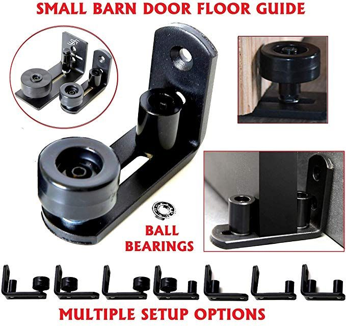 Best Fit for All Barn Doors Bottom Part sits Flat on Ground Floor Guide With 8 Setup Options Barn Door Floor Guide Stay Roller Flush Design 1 Adjustable Guide Per Unit Ordered