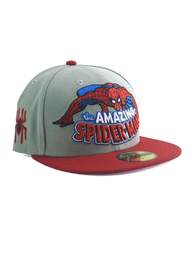 4aad791caf1 New Era Spider-Man 59fifty Custom Fitted Hat Size 7 1 8 Marvel Classic
