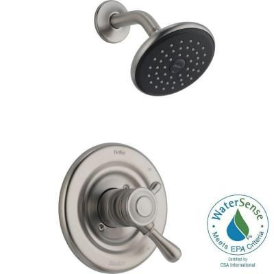 Delta Leland 1-Handle Shower Only Faucet Trim Kit in Stainless ...