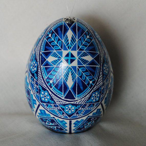 Ukrainain Egg Pysanky Pisanki Goose Egg Easter Egg Collector Egg