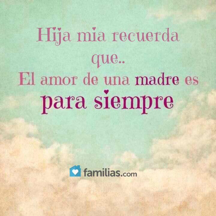 Hija Mia Amor De Madre Feliz Día De La Madre Y Amo A Mi Madre
