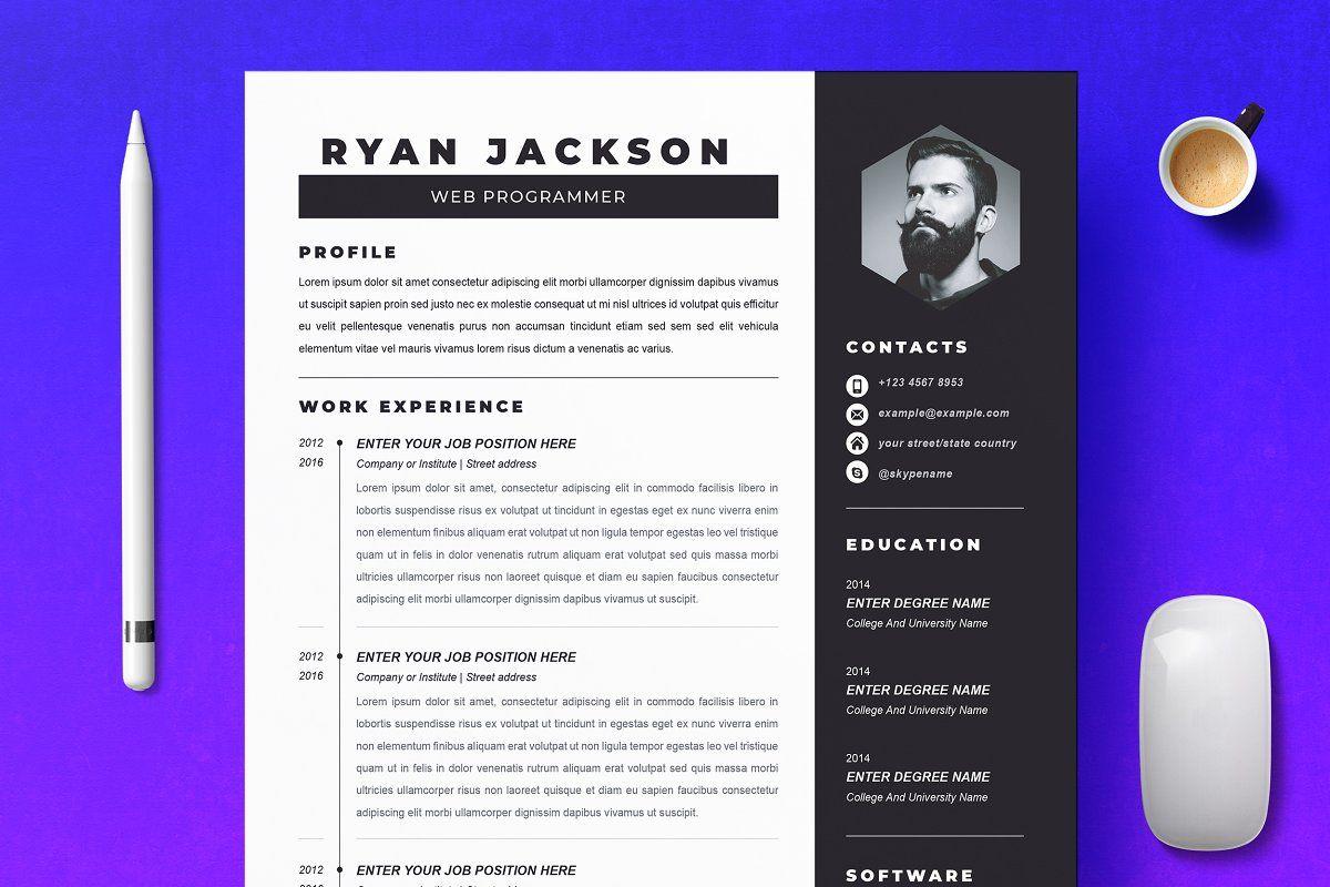 Modern Resume Template / CV Template in 2020 Modern