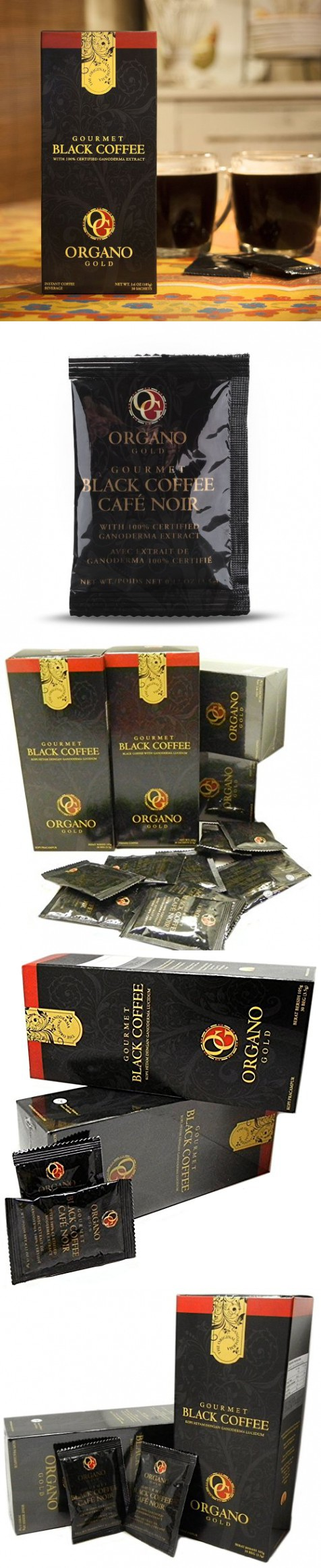2 Boxes Organo Gold Gourmet Cafe Noir Black Coffee 100 Certified Ganoderma Extract Sealed 1 Box Of 30 Sachets Gourmet Cafe Black Coffee Organo Gold