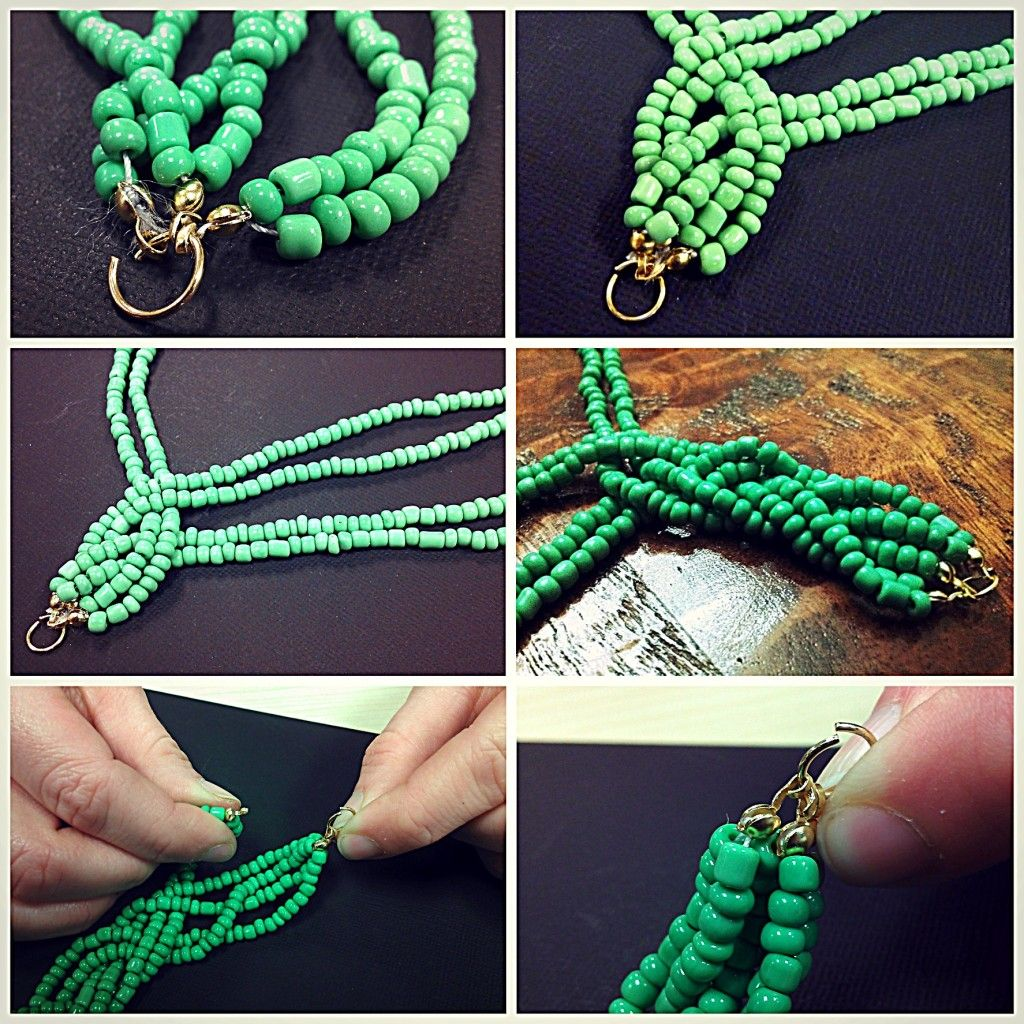 Bead Necklace Diy Braided Strand Tutorial Beaded