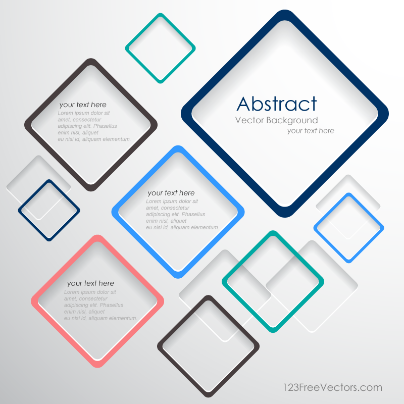 Vector Abstract Squares Background Template Background