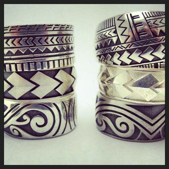 Custom Maori Tattoo Designs: Silver Pacifica Collection Using Spear Designs , Tattoo