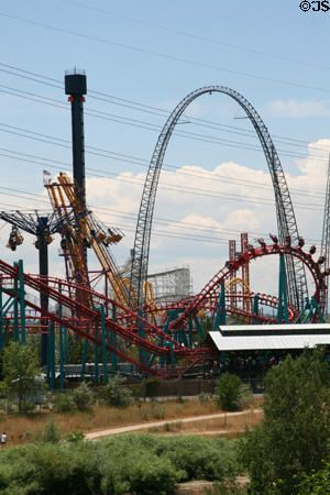 Six Flags In Denver Cool Places To Visit Trip Roller Coaster
