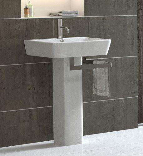 Pedestal Sink With Towel Holder Modern Bathroom Sink