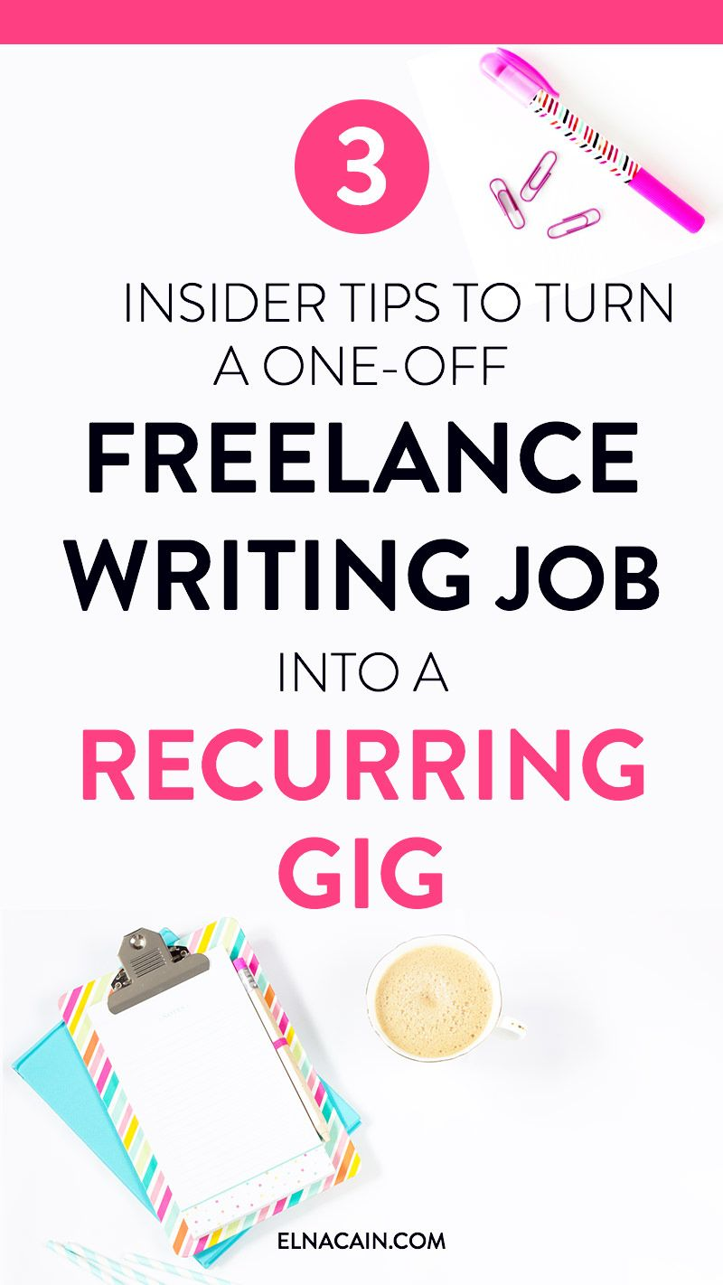 Want to know a secret? If you're a new freelance writer looking for freelance writing tips, check out this post of three insider tips to help you land a recurring freelance job. It is possible to work from home!