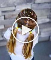 #girls #Hairstyles #KidsHair #School #Step #trendy 42  Trendy Ha