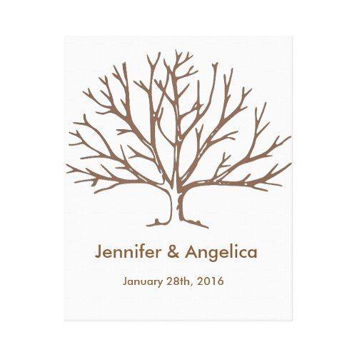 Rustic Wedding Fingerprint Tree