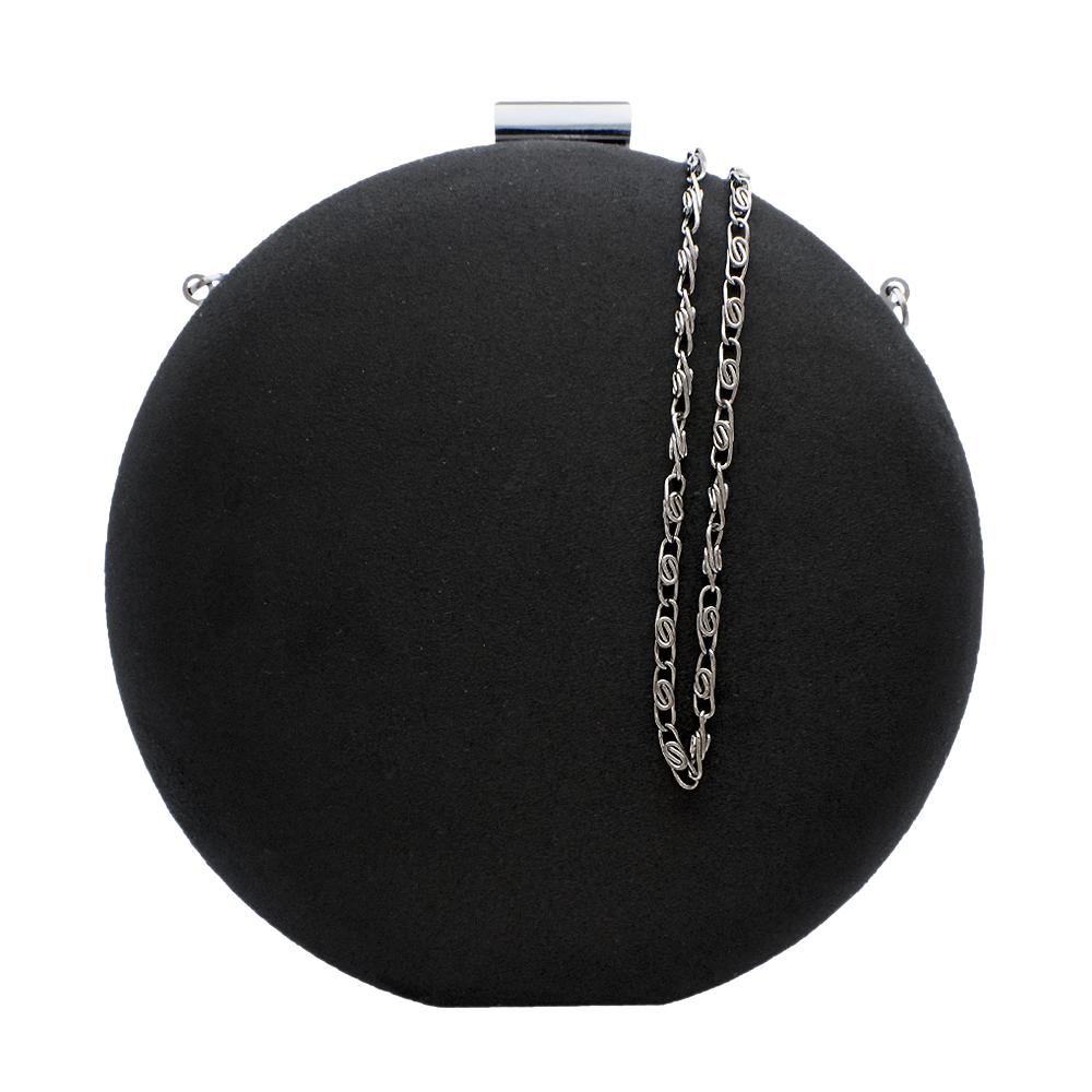 df378347cf bolsa clutch esfera camurça na cor preta