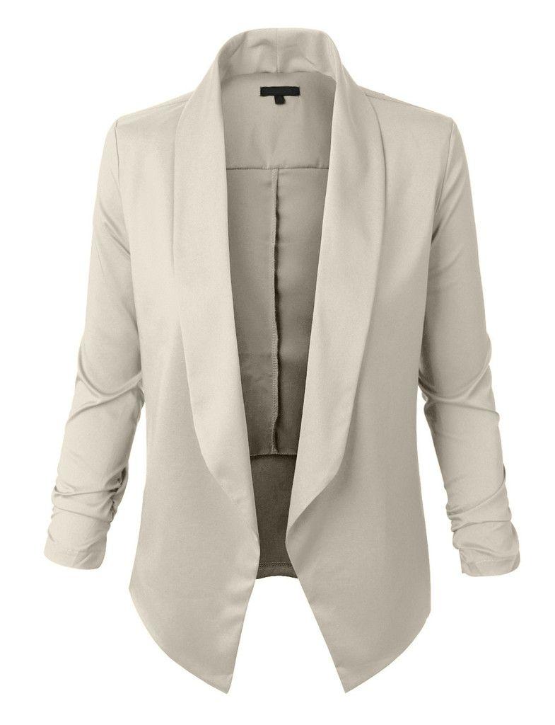 Womens Lightweight Open Front Draped Tuxedo Blazer Jacket | Blazer Jacket Blazers And Clothes