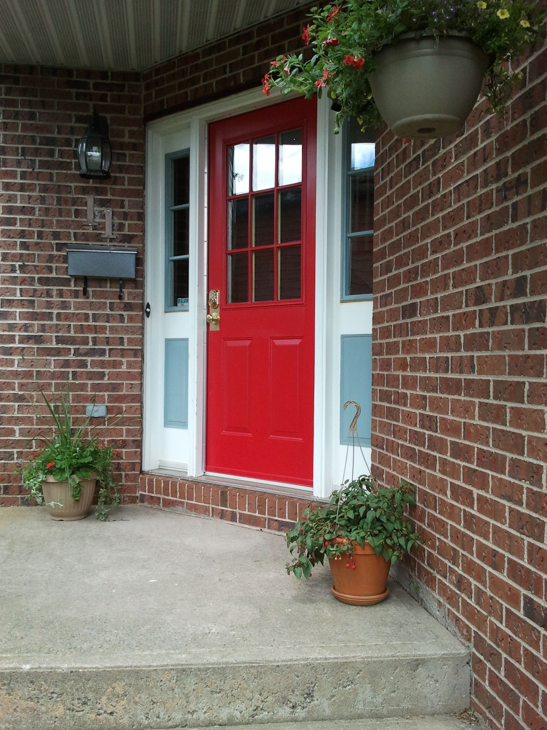 Behr Geranium Red Here S Another View Of A Diffe Door I Previously Posted As Well