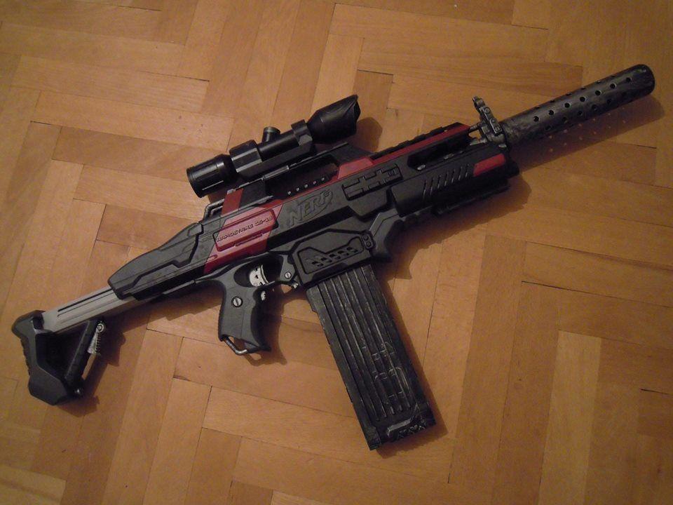 Nerf Rapidstrike repaint and custom silencer