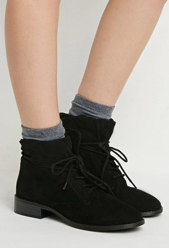 2d7c357579f0b7 Faux Suede Ankle Booties