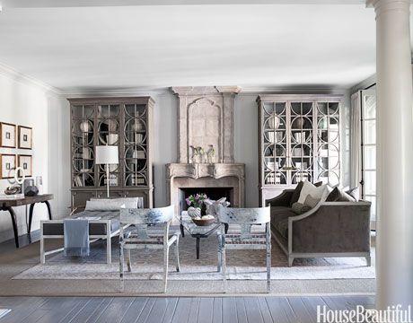145+ Fabulous Designer Living Rooms Monochrome, Paneling painted