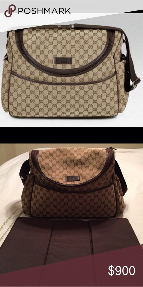 b60c1fe64f9 Gucci diaper bag Gucci diaper bag with changing pad original price ...
