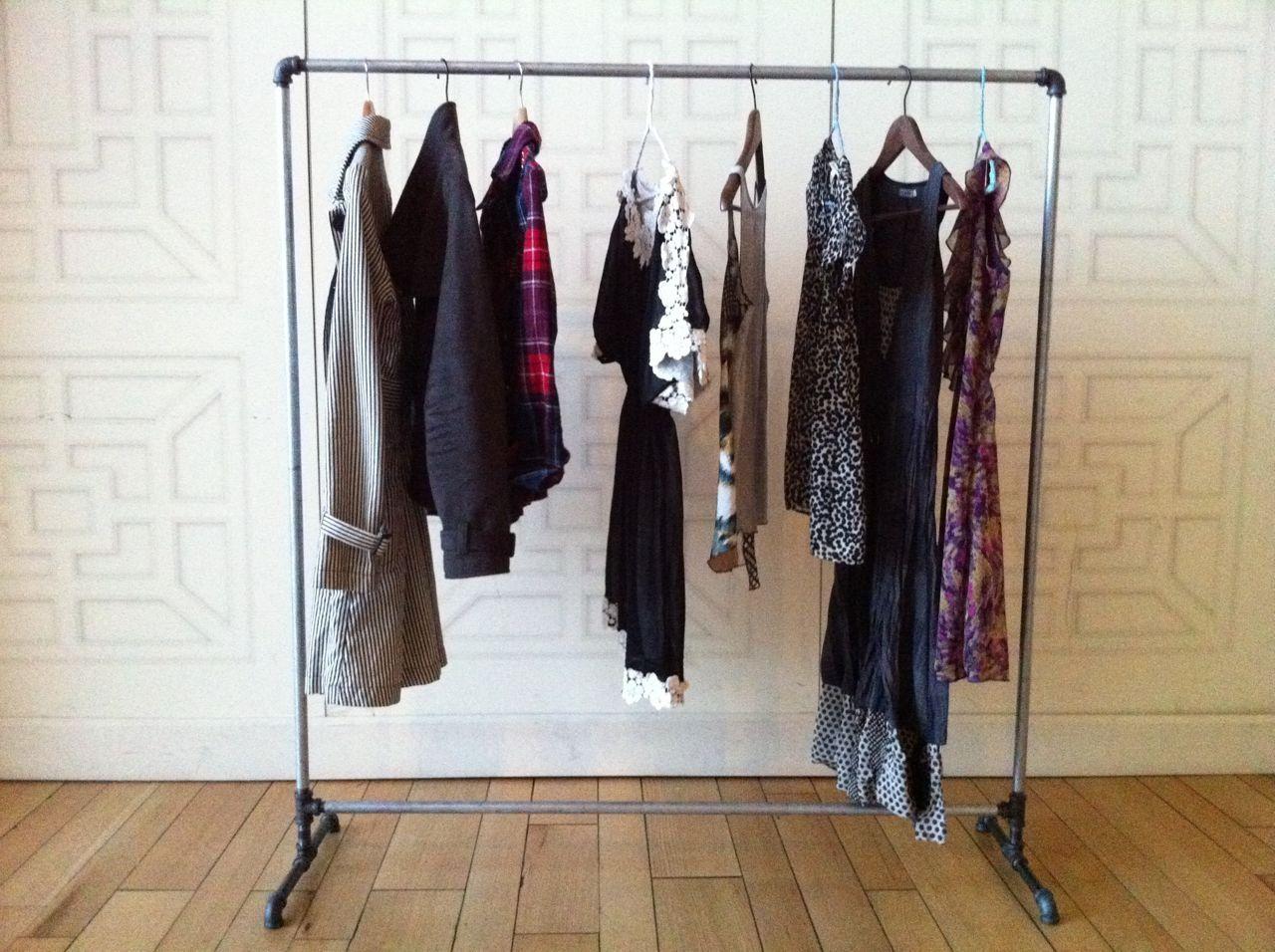 retail store fixture pin pipe rack racks wall industrial garment clothing