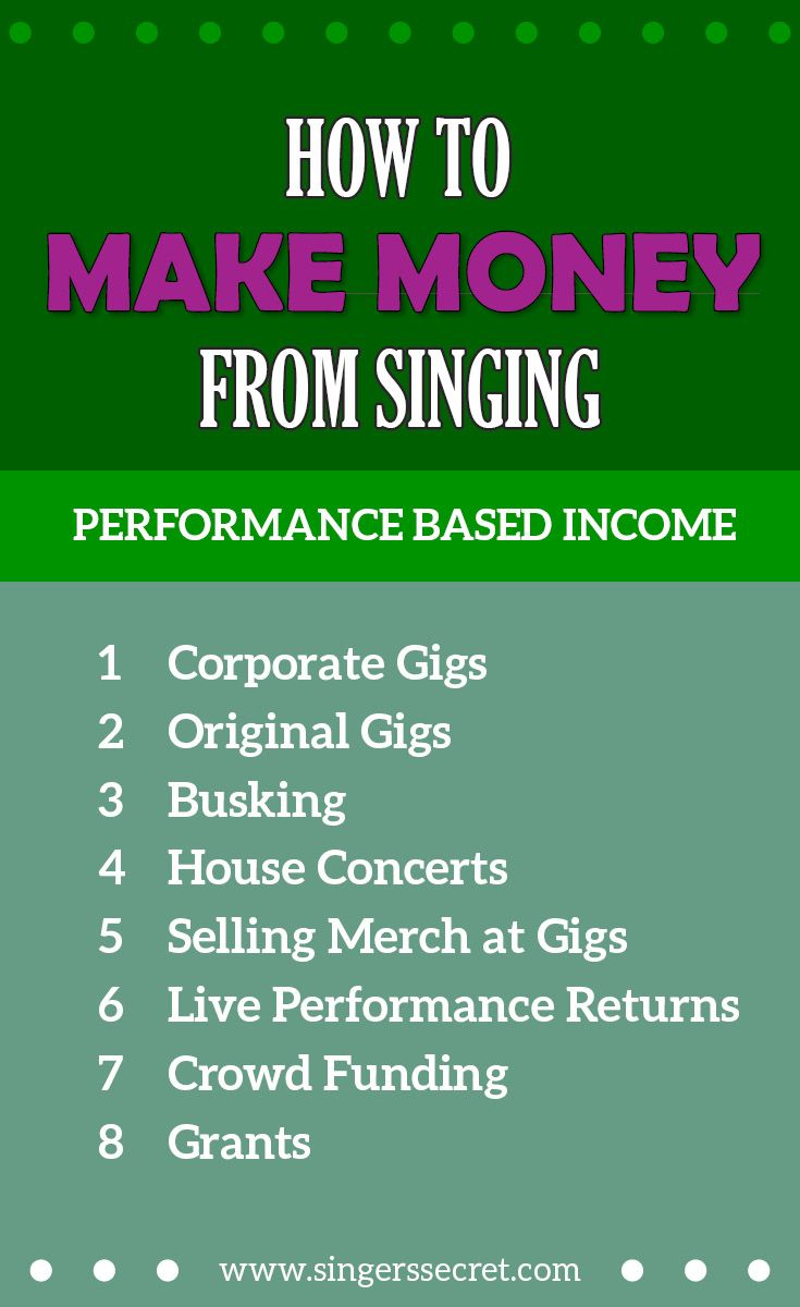 How To Make Money From Singing Http Singerssecret
