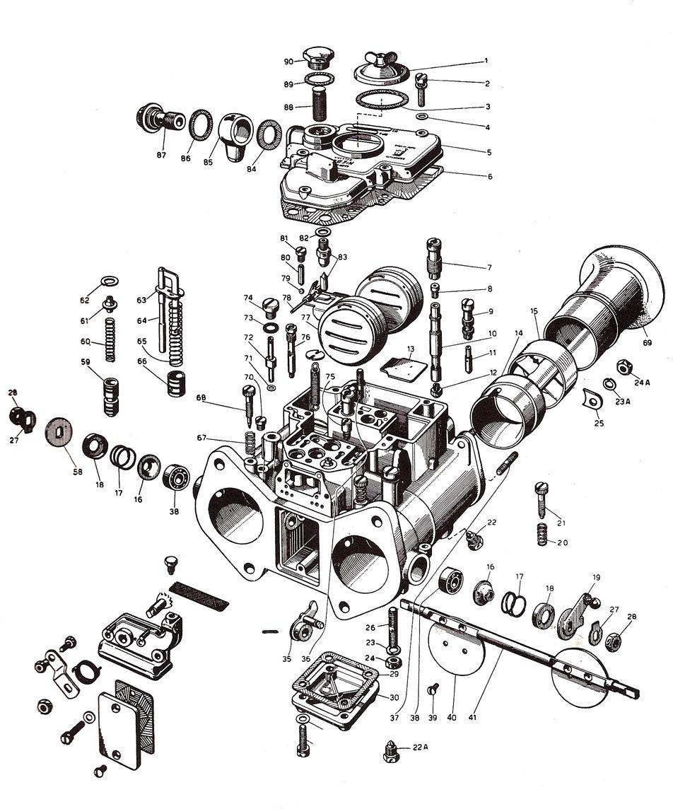 weber 48 dcoe carburetor  19630 007