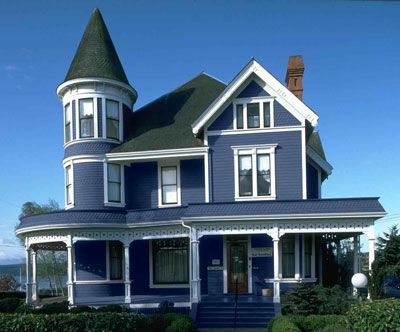 Exterior House Colors Blues Only | Paint Your House: Change Color of Walls  in AKVIS