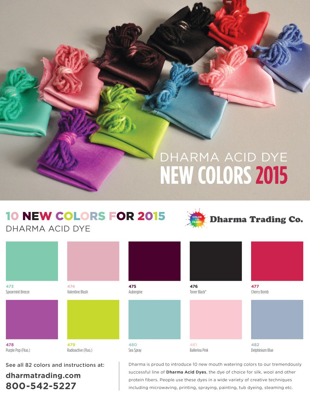 New dharma acid dye colors for 2015 wool and silk color new dharma acid dye colors for 2015 wool and silk nvjuhfo Images