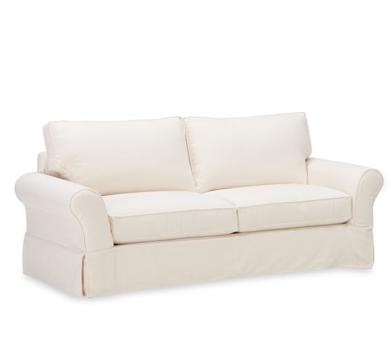 Pb Comfort Roll Arm Slipcovered Sleeper Sofa