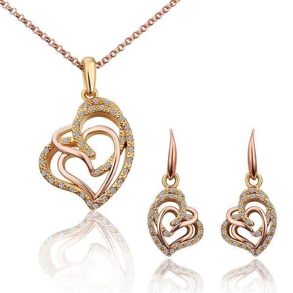 S292 Fashion Nickel and lead free mixed styles gold jewelry set