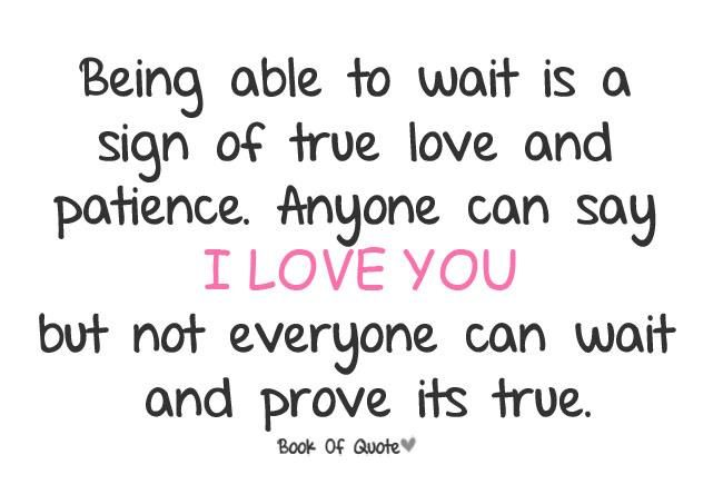 I Love You So I Will Wait For You No Matter How Long It Takes No