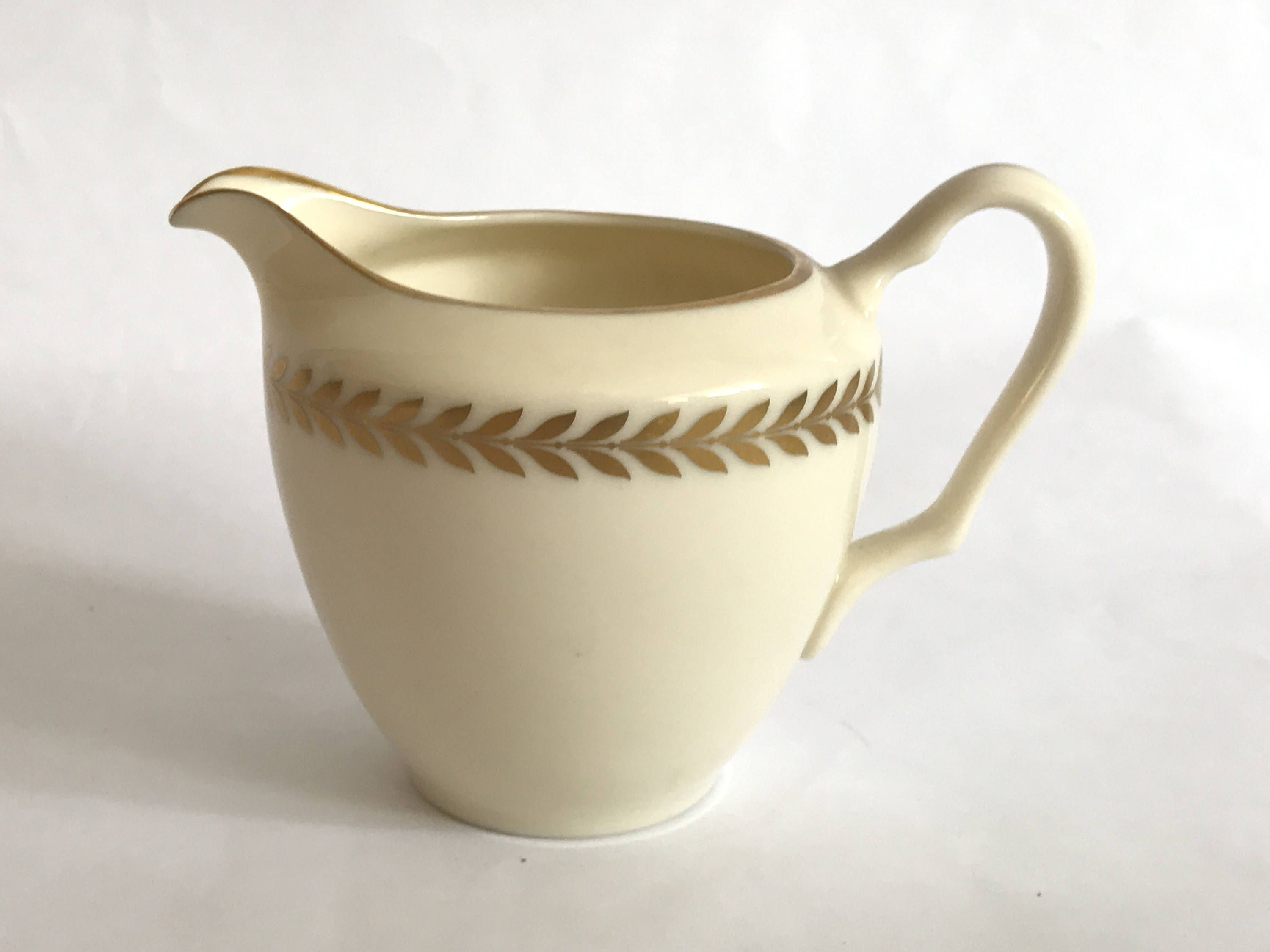 Lenox China Creamer Imperial Ivory And Gold Laurel