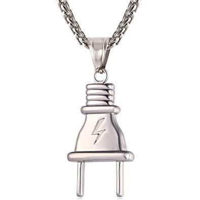 Photo of The Plug Pendant – Sterling Silver / 1