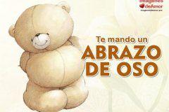 con abrazos de oso y frases bonitas | Abrazos de oso, Imagenes de ...